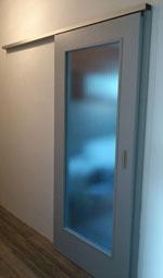 Posuvné dveře na stěnu dvoukřídlé